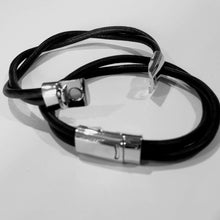 Load image into Gallery viewer, His and Her Leather Bracelet Double Band