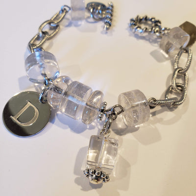 Personalized Crystal Quartz Chain Bracelet