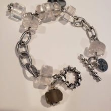 Load image into Gallery viewer, Personalized Crystal Quartz Chain Bracelet