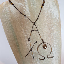 Load image into Gallery viewer, Sorority Necklace With  Handmade Wire Greek Letters