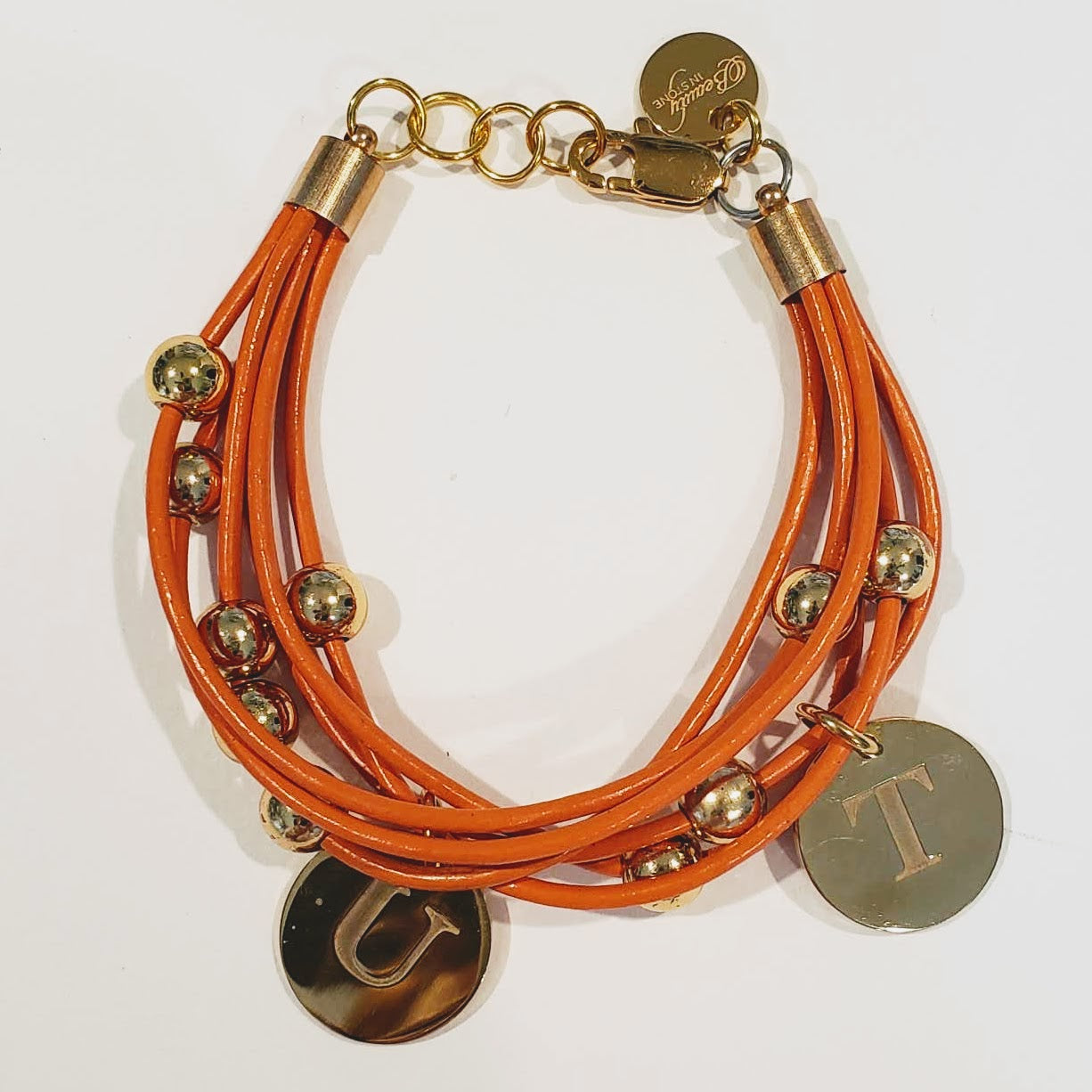 UT Orange Leather Bracelet University of Tennessee