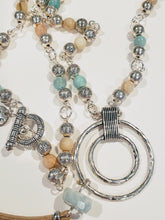 Load image into Gallery viewer, Beaded Necklace With Medallion & Tassel