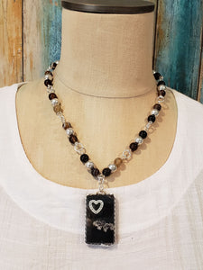 Natural Gemstone Beaded Necklace