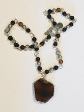 Load image into Gallery viewer, Brown Natural Gemstone Beaded Necklace