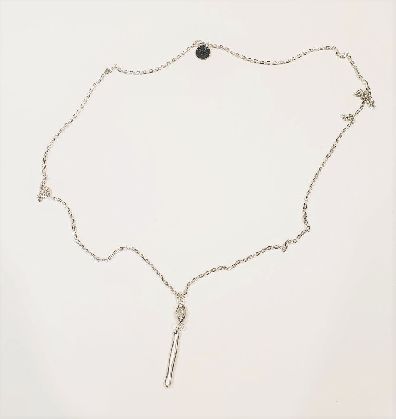 Long Chain Necklace With Drop Pendant