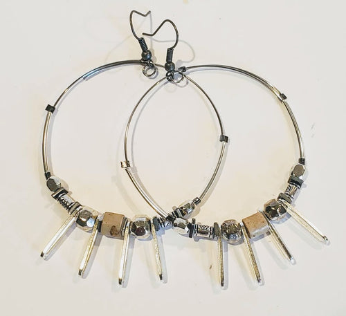 Hoops Gemstone Earring