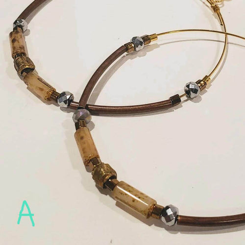 18 Styles Handmade Hoop Earrings *Choose Style*
