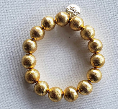 Brushed Gold Bracelet - Beauty In Stone Jewelry