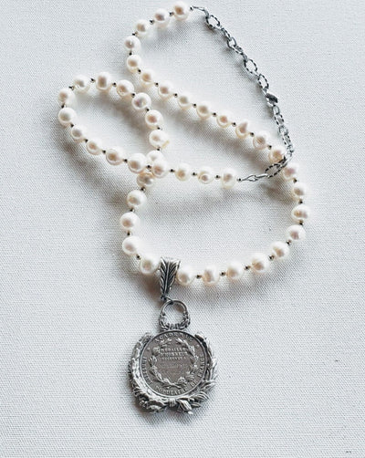 Freshwater Pearl Coin Necklace - Beauty In Stone Jewelry