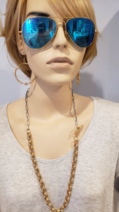 Chunky Matte Chain Necklace With Side Toggle