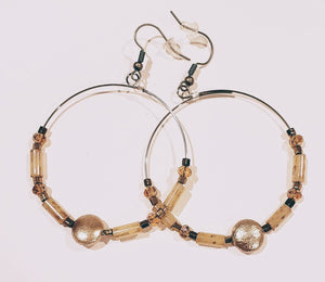 Hoop Earrings Soft Gold & Silver