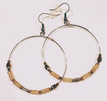Load image into Gallery viewer, Hoop Earrings Creamy Picasso