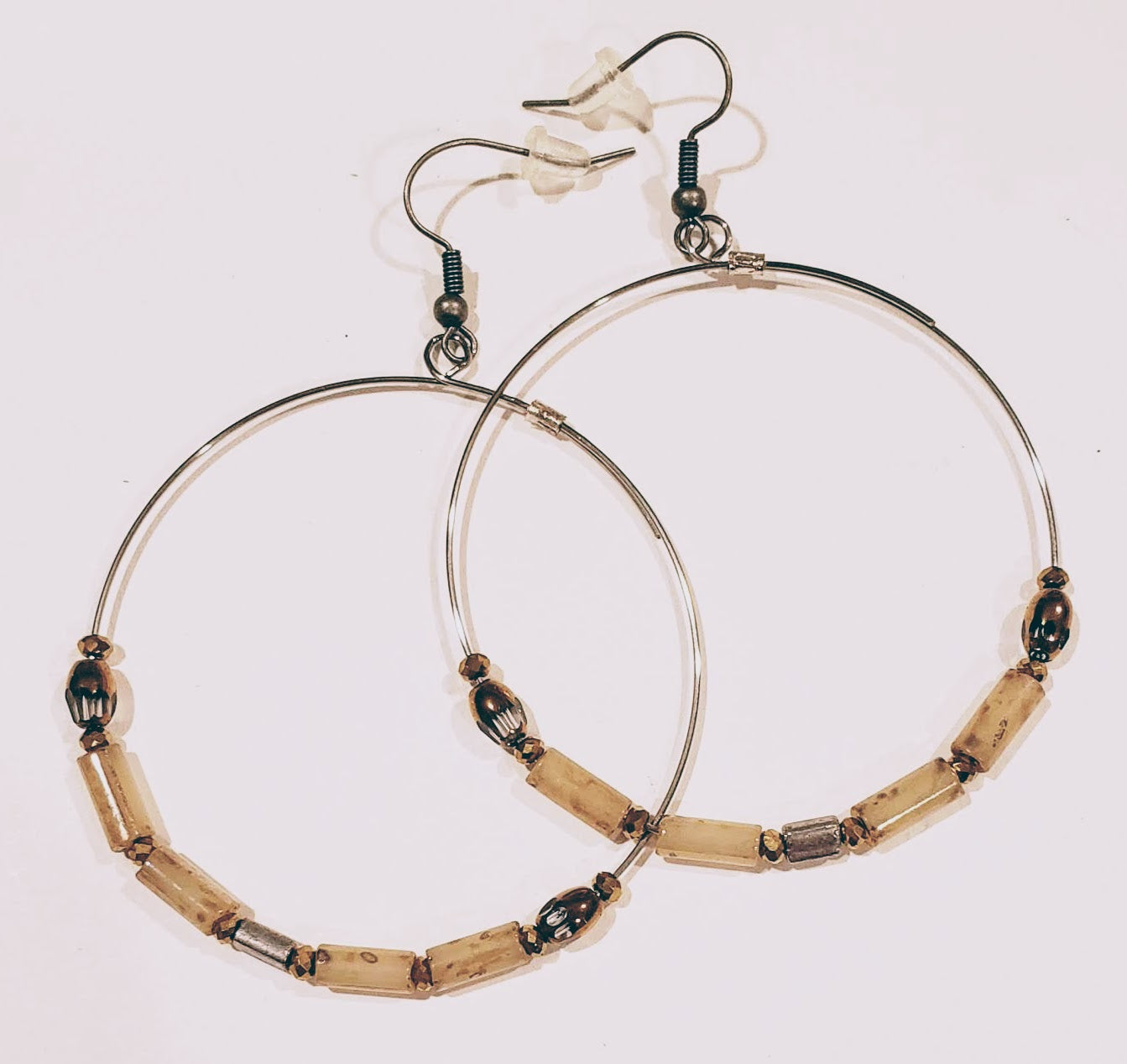 Hoop Earrings Creamy Picasso