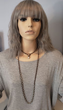 Load image into Gallery viewer, Matte Silver & Antique Bronze Chain Necklace