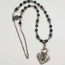 Load image into Gallery viewer, Dramatic Heart on Beaded Necklace