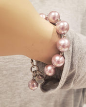 Load image into Gallery viewer, Freshwater Pearl Bracelet Pink