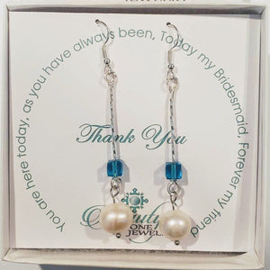 Pearl and Cube Earrings Color Choice