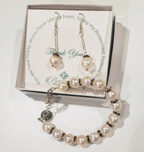 Load image into Gallery viewer, White Pearl With Amethyst or Clear Crystal Necklace