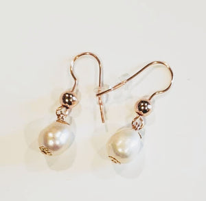 Blush Pearl & Rose Gold Earrings