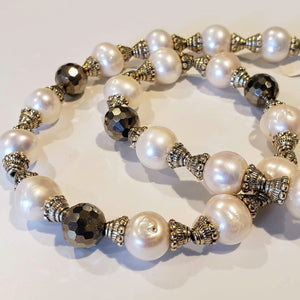 Vintage Pearl & Crystal Necklace
