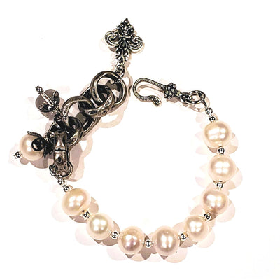 Freshwater Pearl & Chain Bracelet - Beauty In Stone Jewelry