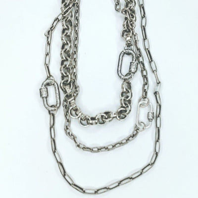 Sterling Silver Bold Chain Necklace Layers or Single - Beauty In Stone Jewelry
