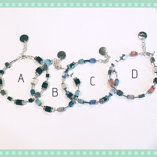 Cube Bracelet 4 Color Choices
