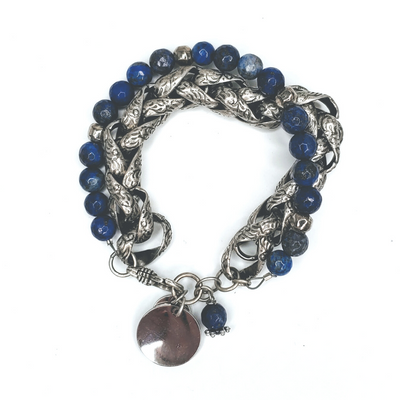 Fancy Rope & Sodalite Stone Bracelet - Beauty In Stone Jewelry