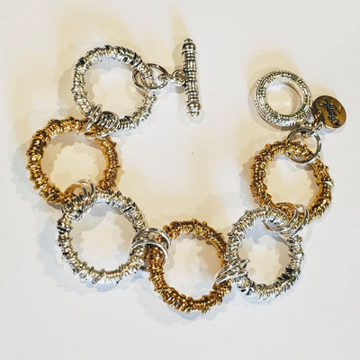 Chunky Big Link Bracelet Gold & Silver - Beauty In Stone Jewelry