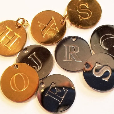 Engraved Letter Charms A-Z - Beauty In Stone Jewelry