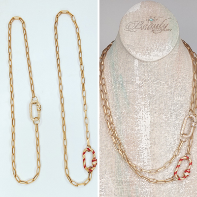 Gold Chain Necklace Layers or Single - Beauty In Stone Jewelry