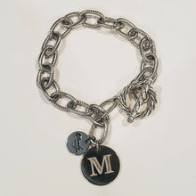 Load image into Gallery viewer, Chain Link Bracelet With Coin or Monogram