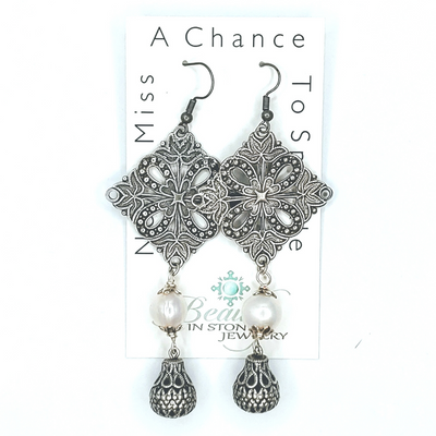 Fancy Filigree Earring - Beauty In Stone Jewelry