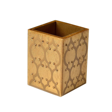 makeup brush holder - gold