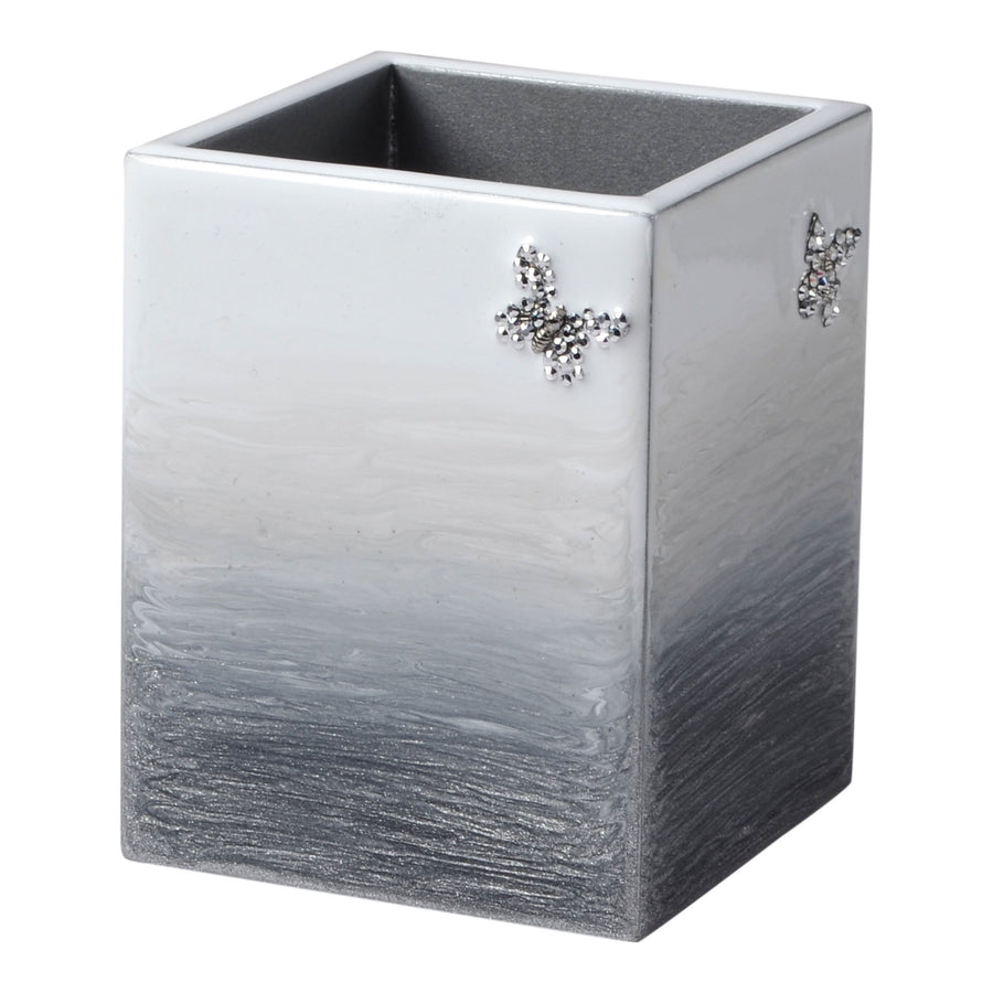Elegant Bathroom Grey Brush Holder - Breeze