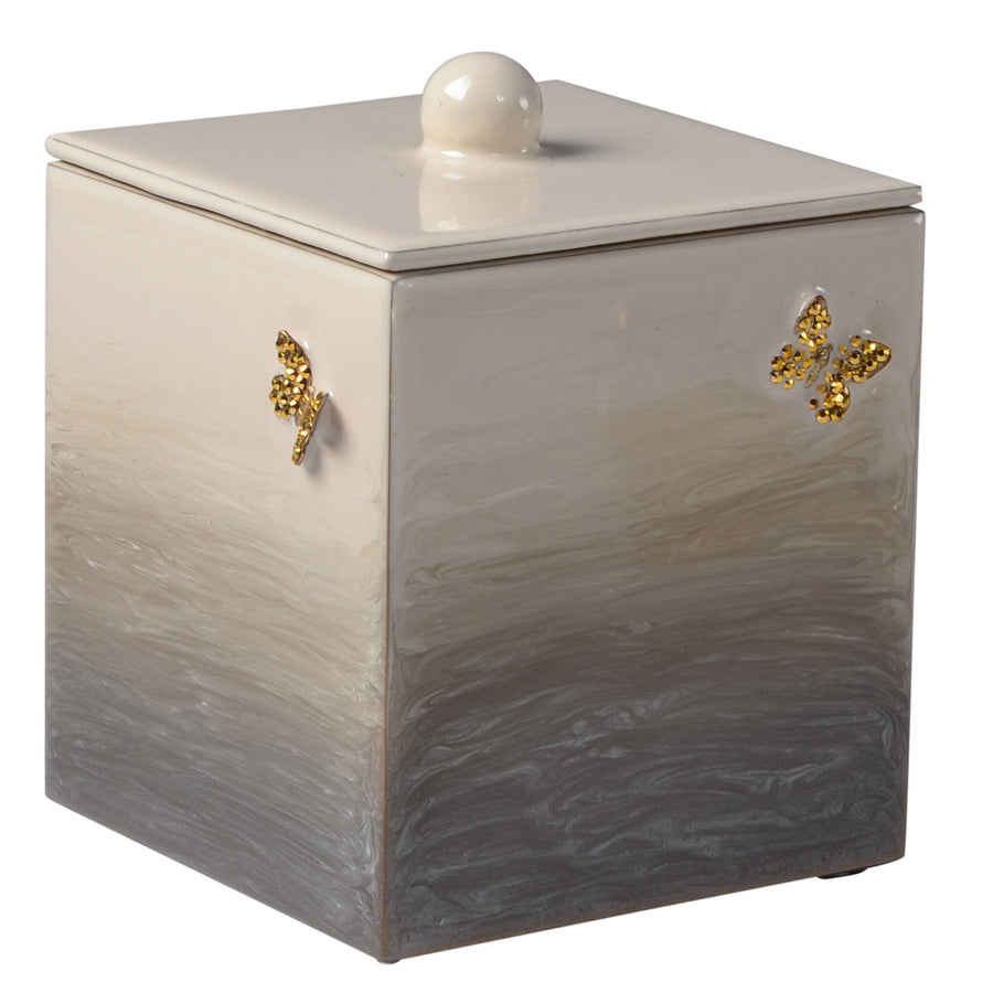 Elegant Bathroom Butterfly Container - Breeze