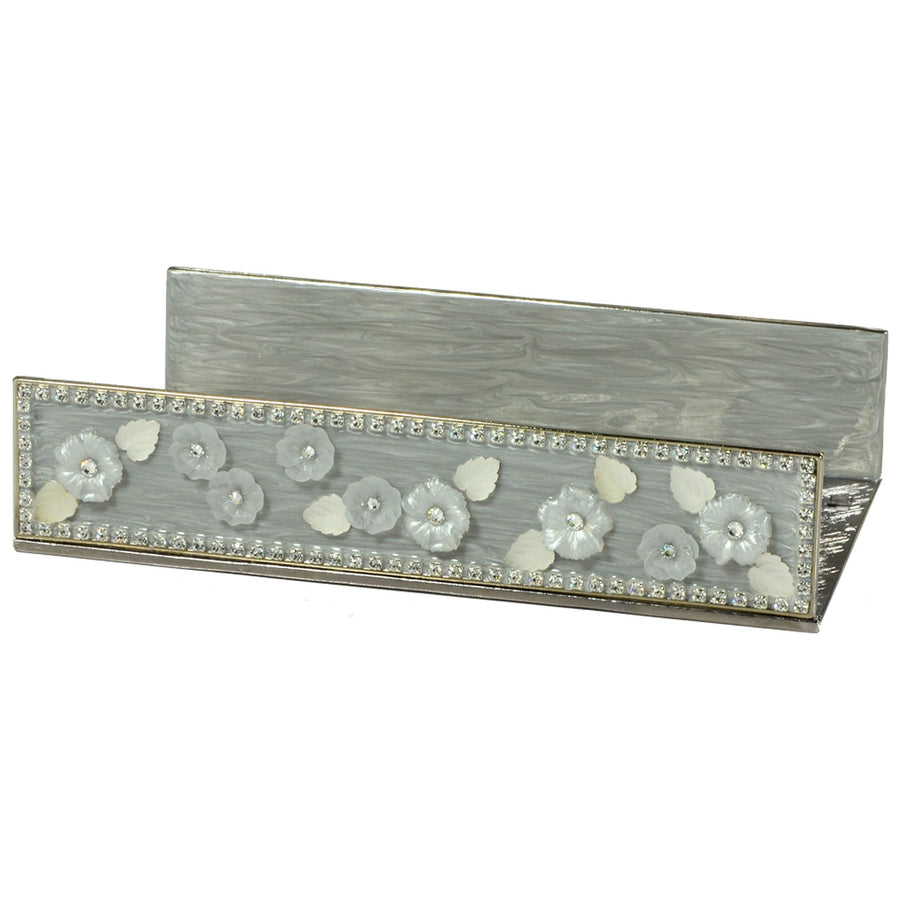 Rhinestone Flat Towel Holder - Chantilly elegant bathroom accessory