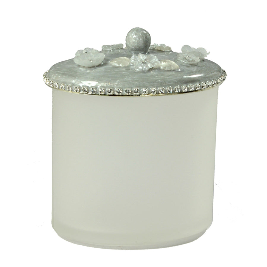 Rhinestone Q-Tip Holder - Chantilly elegant bathroom accessory