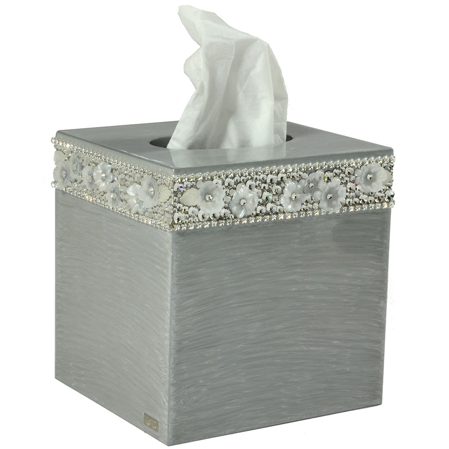 Rhinestone Tissue Boutique - Chantilly elegant bathroom accessory