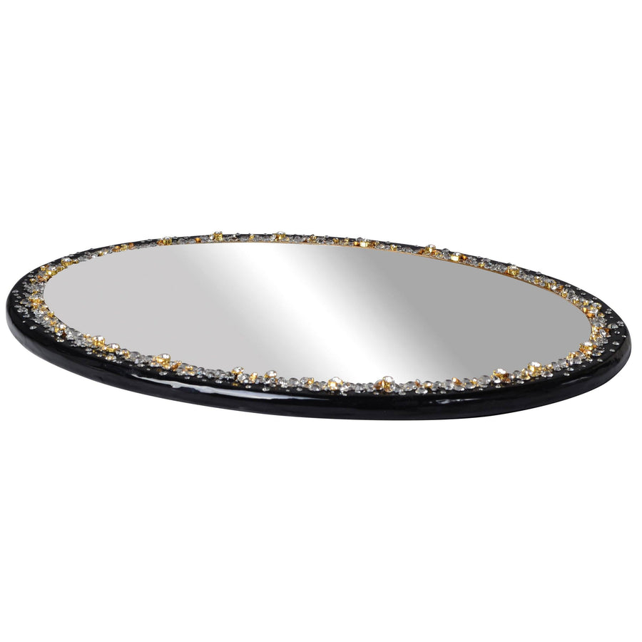 Crystal Oval Tray - Duchess Decorative Bath Accessory