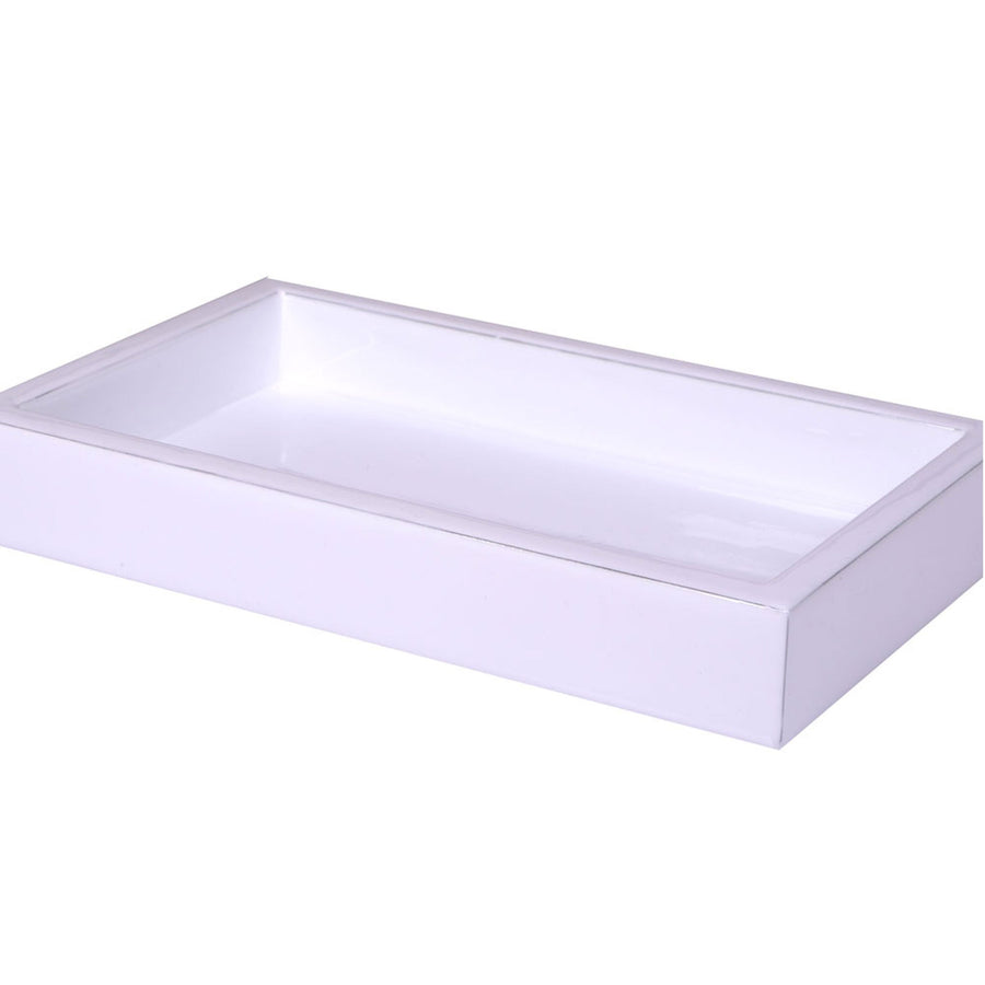 white tray - essentials Modern Bath Accessory