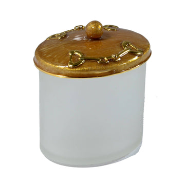 stirrups Q-Tip  jar - hamptons Modern Luxury Bath
