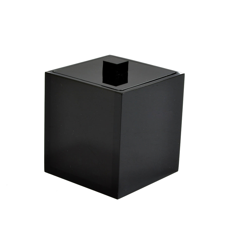 Modern Lucite Container - Black Ice