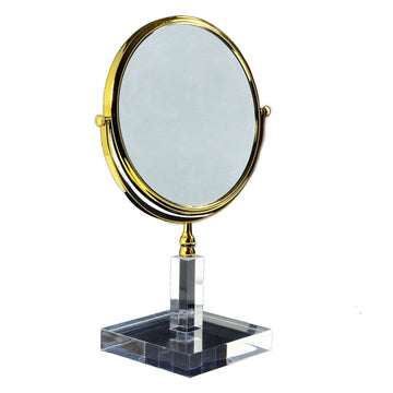 3x Magnifying Mirror Gold