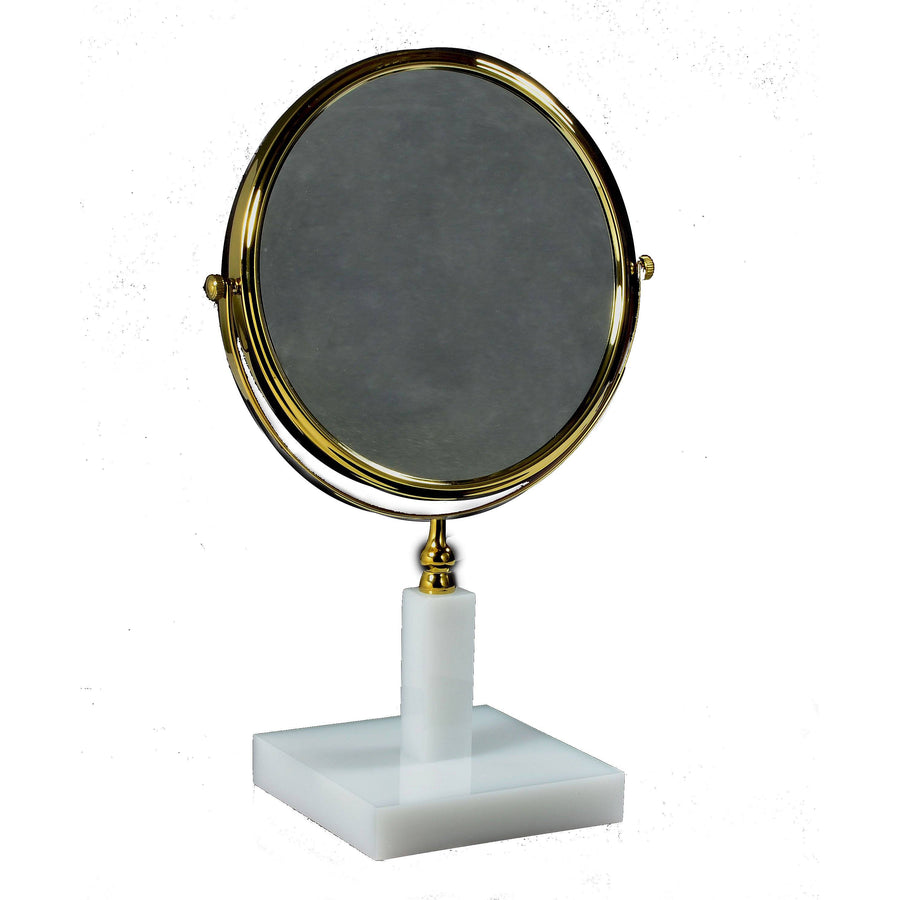 Ice Bath Gold Magnifying Mirror