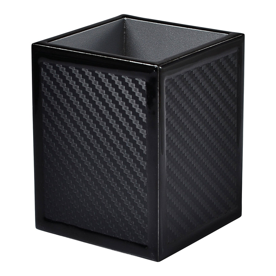 carbon fiber brush holder - black bath accessory