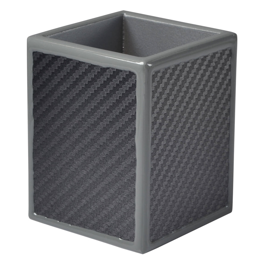 Gray Brush Holder - carbon fiber bath accessory