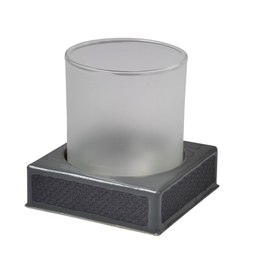 gray tumbler - carbon fiber bath accessory