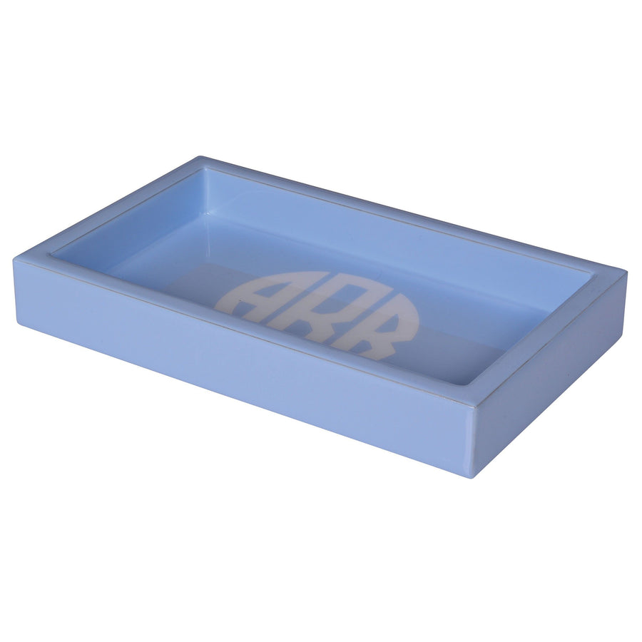 vanity tray - monogram luxury bath accessory blue
