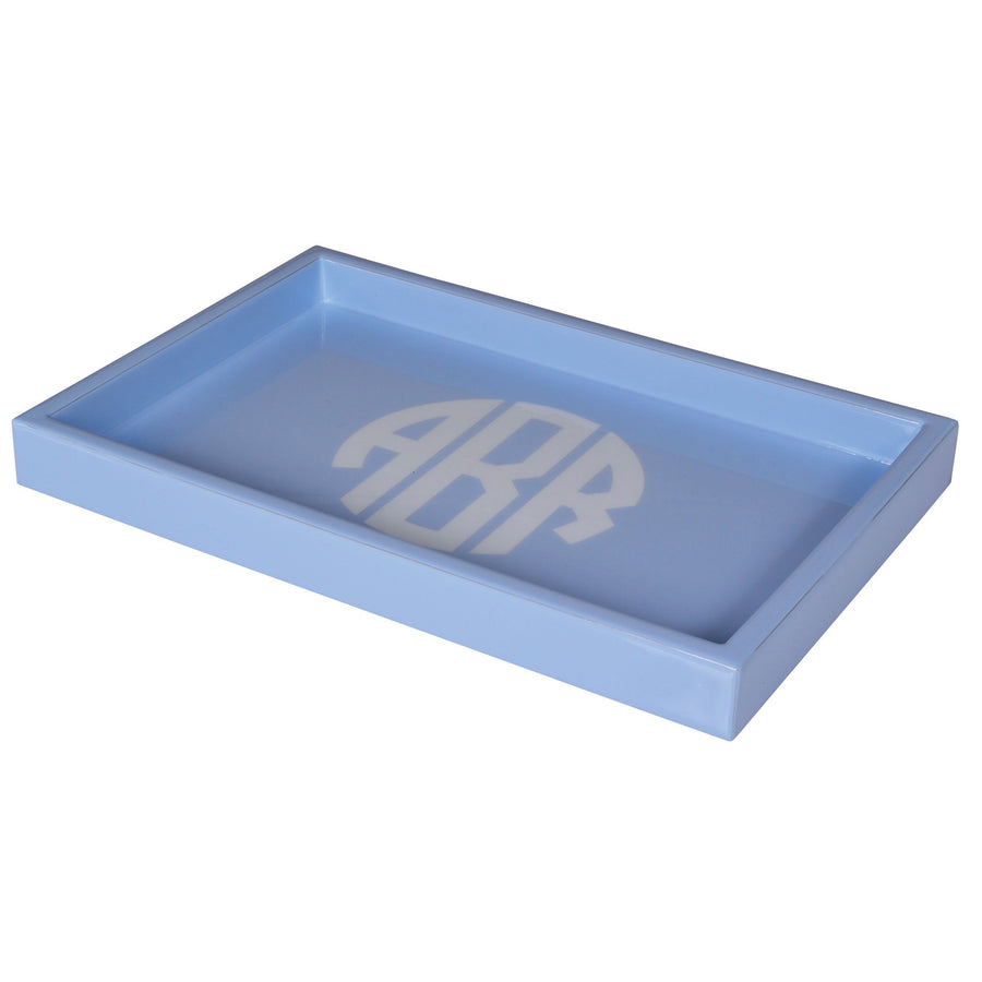 tray - monogram luxury bath accessory blue